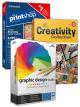 Ultimate design bundle - The Print Shop Deluxe 6.0, The Creativity Collection 3, Graphic Design Studio