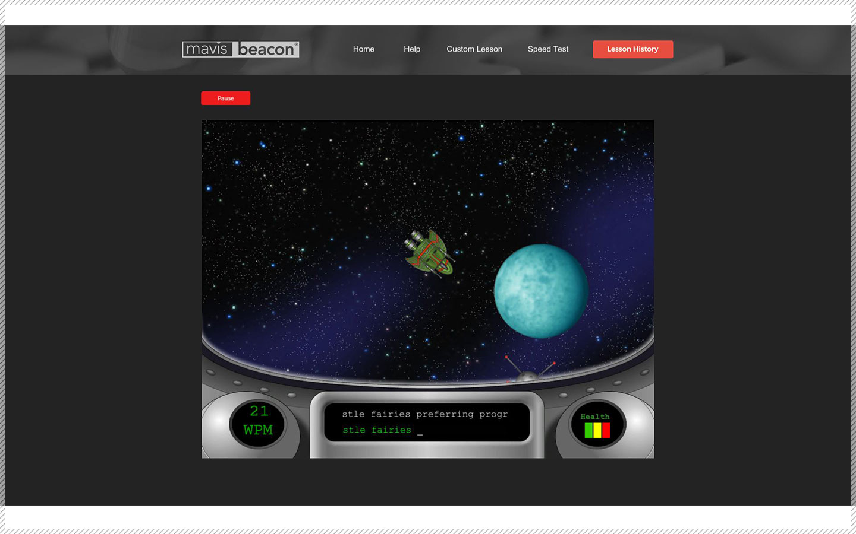 Mavis Beacon Teaches Typing Game