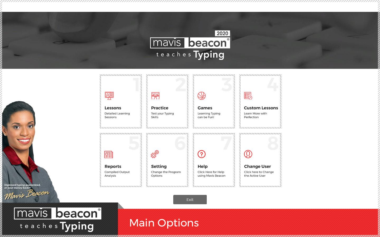 Mavis Beacon Teaches Typing MainScreen