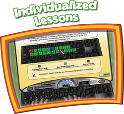 Mavis Beacon Keyboarding Kidz Lesson